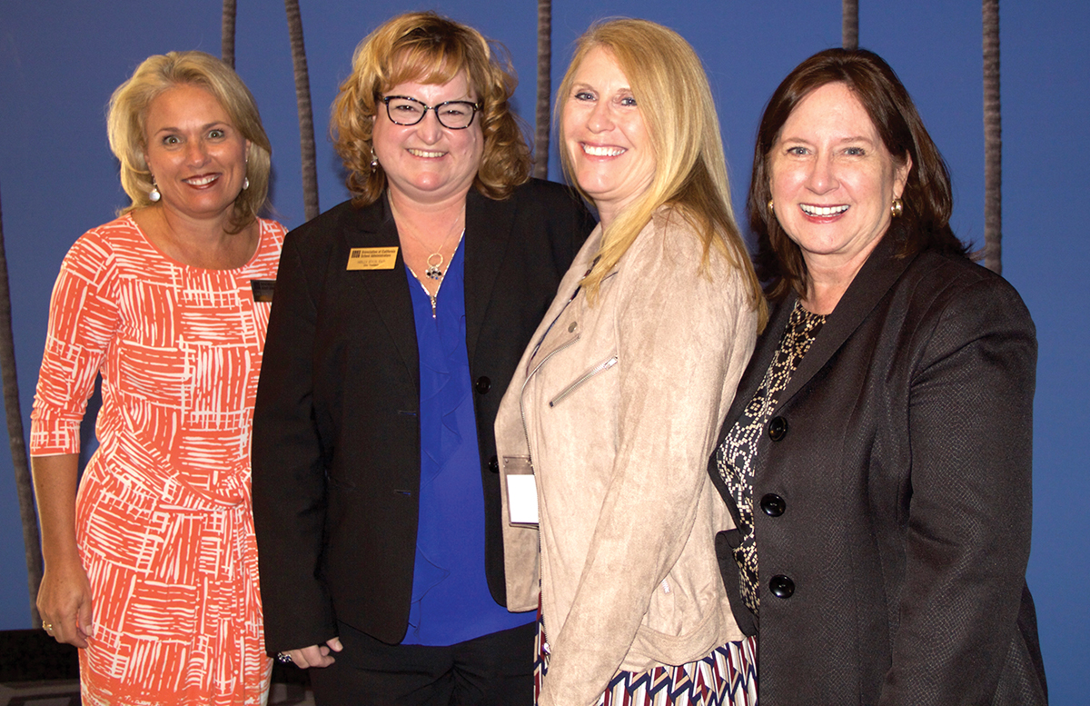 L-R, incoming ACSA officers: Lisa Gonzales, Holly Edds, Terri Rufert and Linda Kaminski. The four women are set to make ACSA history.